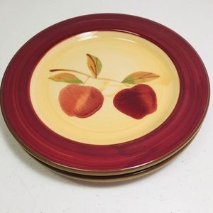 Hartstone Handpainted Apple Plates Set of 2
